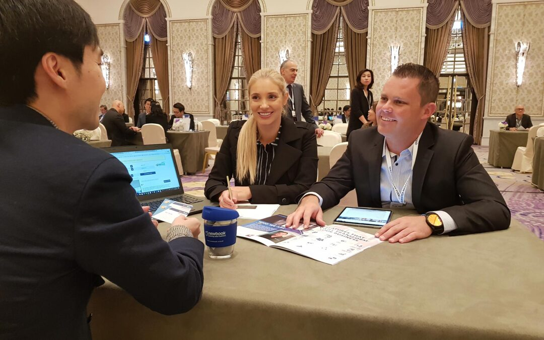 Founder & CEO Brad Illich meets with senior hotel executives to discuss expansion plans and NewBook's CRS