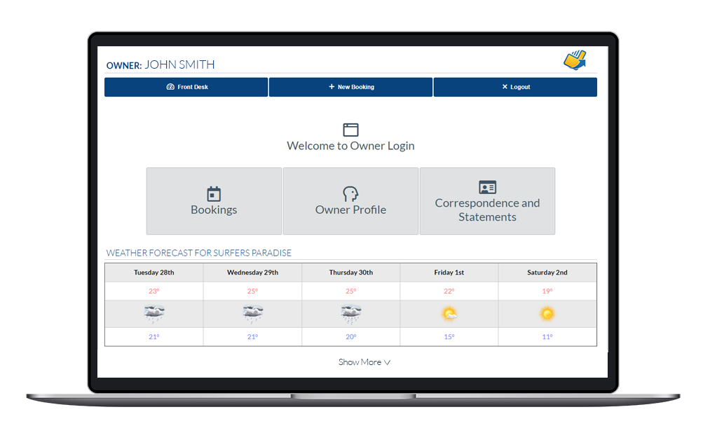 NewBook Property Management System (PMS) Feature - Owner Payments (Owner Portal)